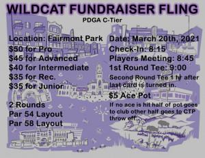 Disc Golf Club at  KSU Wildcat Fundraiser Fling graphic