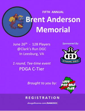 The Fifth Annual Brent Anderson Memorial graphic
