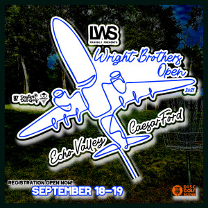 The Wright Brothers Open Sponsored by LWS Accounting 2021 Presented by Dynamic Discs graphic
