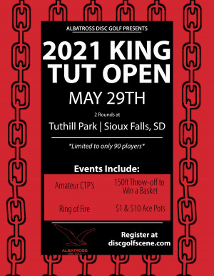 2021 King Tut Open Presented by Albatross Disc Golf graphic