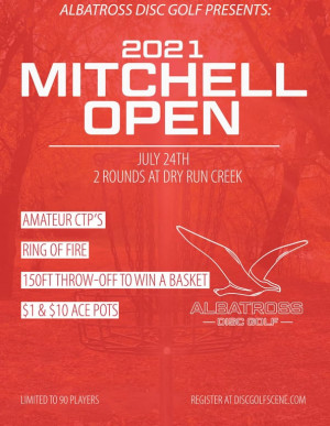 2021 Mitchell Open Presented by Albatross Disc Golf graphic