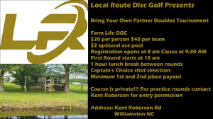 BYOP Doubles Presented by Local Route Disc Golf graphic
