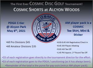 Cosmic Shorts at Alcyon Woods 2021 graphic