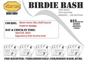 Vibram Birdie Bash at Shore Acres graphic