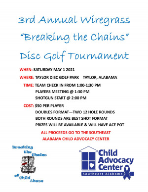 3rd Annual Wiregrass Breaking the Chains graphic