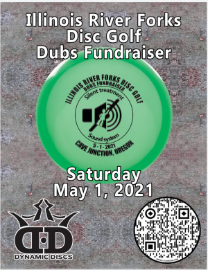 Illinois river forks disc golf dubs BYOP fundraiser graphic