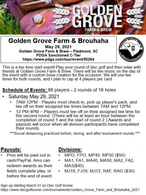 Golden Grove Farm & Brouhaha graphic