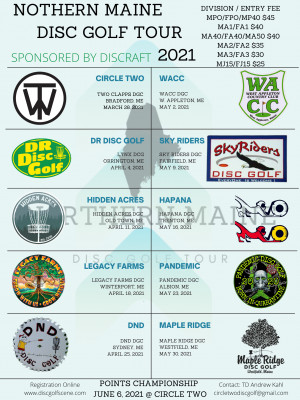 NMDGT 2020 at DR Disc Golf graphic
