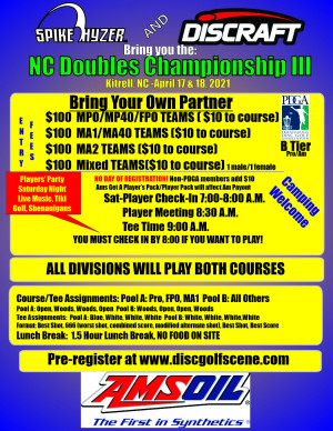 Discraft Presents: Spike Hyzer's NC Doubles Championship III graphic