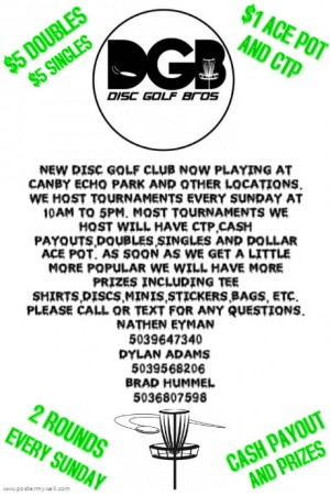CHAMPOEG STATE PARK SINGLES 18 HOLES 2 ROUNDS WITH CTP AND CASH PAYOUT graphic