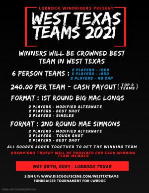 Lubbock Windriders Present - West Texas Teams 2021 graphic