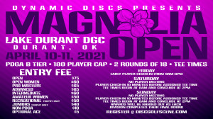 Dynamic Discs Presents the Magnolia Open graphic