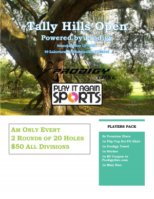 Tally Hills Open - Powered By Prodigy graphic