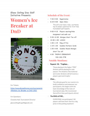 Women's Ice Breaker at DnD graphic