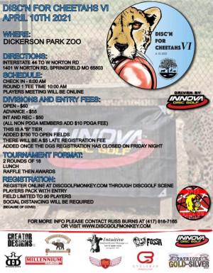 The  VI Annual Disc'n for Cheetahs - Driven by Innova graphic