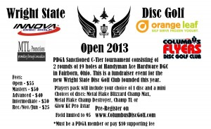 Wright State Disc Golf Open graphic