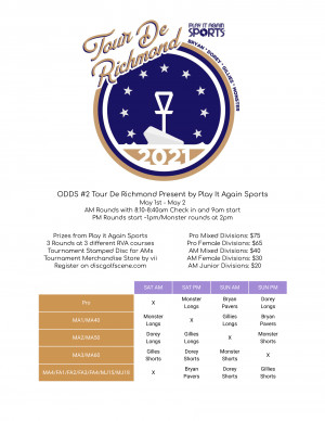 ODDS #2 Tour De Richmond Presented by Play it Again Sports graphic