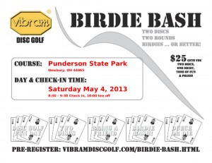 Vibram Birdie Bash at Punderson State Park graphic