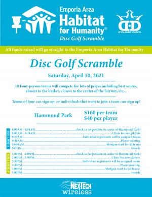 2021 Emporia Area Habitat for Humanity Disc Golf Scramble graphic