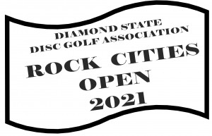 Rock Cities Open brought to you by Diamond State Disc Golf graphic