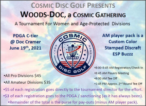Woods-Doc, a Cosmic Gathering 2021 graphic