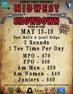 Midwest Showdown Presented by Legacy Discs and Powered by Play It Again Sports St Peters graphic