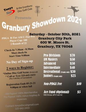 Granbury Showdown 2021 graphic