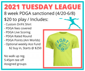 FDGC Tuesday Sanctioned league (4/20 thru 6/8) graphic