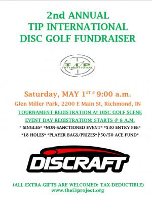 2nd Annual TIP International Disc Golf Fundraiser 2021 graphic