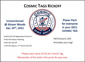 Cosmic Tags Kickoff at Alcyon Woods 2021 graphic