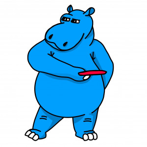 Stomped By The Hippo graphic