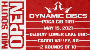 2021 Mid South Open Sponsored by Dynamic Discs graphic