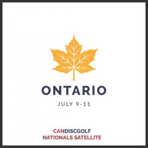 CanDiscGolf - Nationals Disc Golf Championship Satellite - Ontario graphic