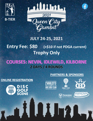 The Queen City Gambit Sponsored by Dynamic Discs and Innova Disc Golf graphic
