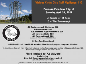 10th Annual Vicious Circle Disc Golf Challenge graphic