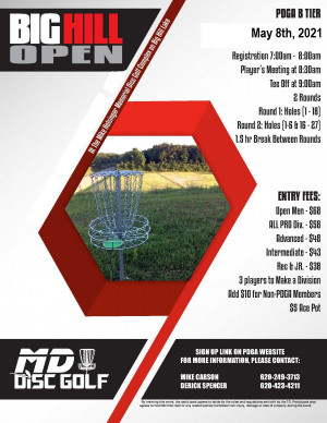Big Hill Open 2021 graphic