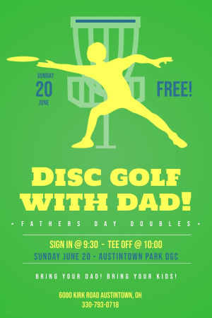 YDGC Disc Golf With Dad 2021! graphic