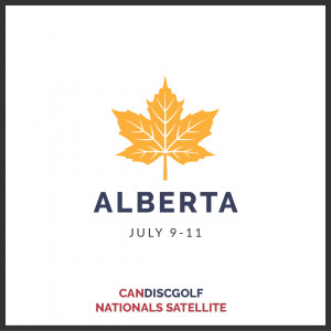 CanDiscGolf - Nationals Disc Golf Championship Satellite - Alberta graphic