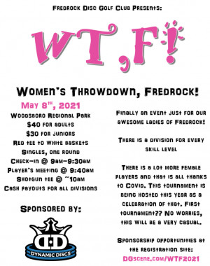 Women's Throwdown, Fredrock! (Sponsored by Dynamic Discs) graphic