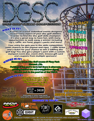 Disc Golf Skills Competition graphic