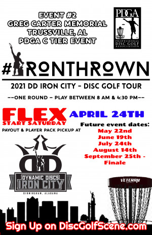 IronThrown Disc Golf Tour- Presented by DD Iron City - Event 2 graphic