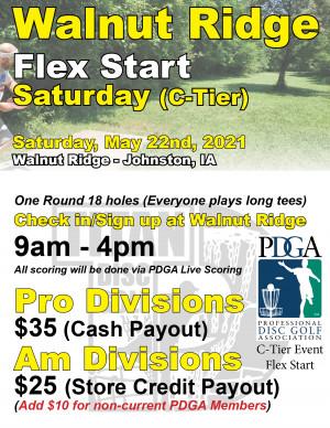 Walnut Flex Start Saturday graphic