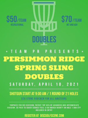 Persimmon Ridge Spring Sling Doubles graphic