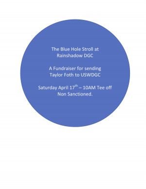 The Blue Hole Stroll fundraiser graphic