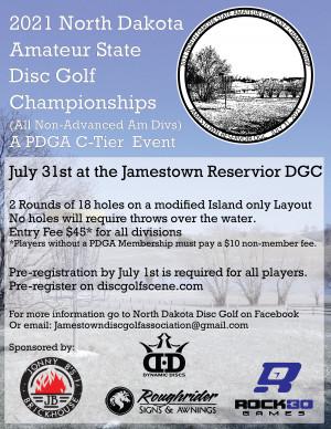 North Dakota Amateur State Disc Golf Championships (All Non-Advanced Am Divs) graphic