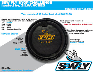 SEW FLY BYOP CHALLENGE hosted by, Silva Acres graphic