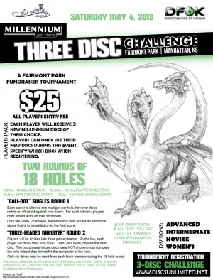 DFOK Fairmont Fundraiser - Millennium Discs - 3 Disc Challenge graphic