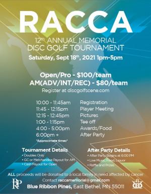 12th Annual Racca Memorial graphic