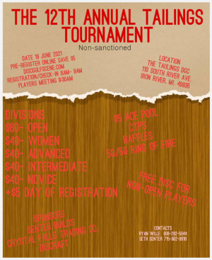 The 12th Annual Tailings Tournament graphic