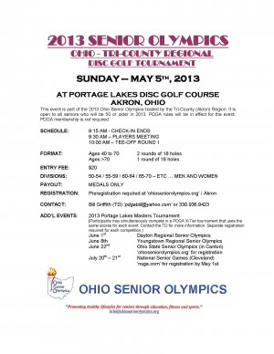 Tri-County (Akron) Ohio Regional Senior Olympics graphic